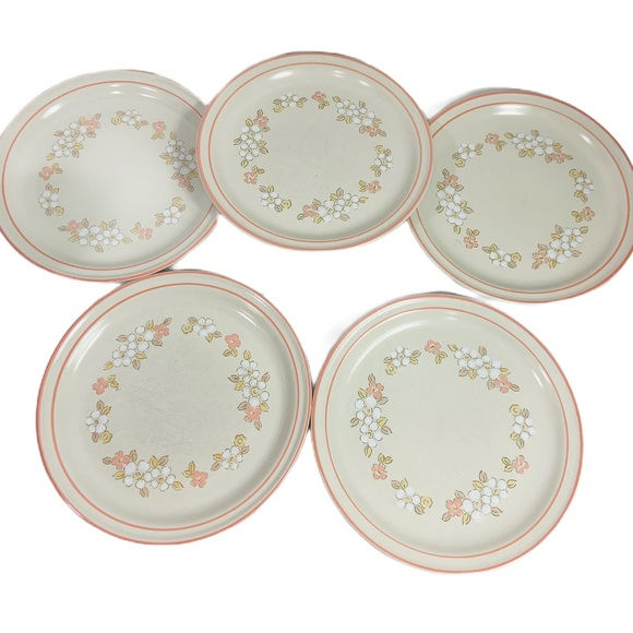 Vintage Other - Chantilly Hand Decorated Stoneware Diner Plates